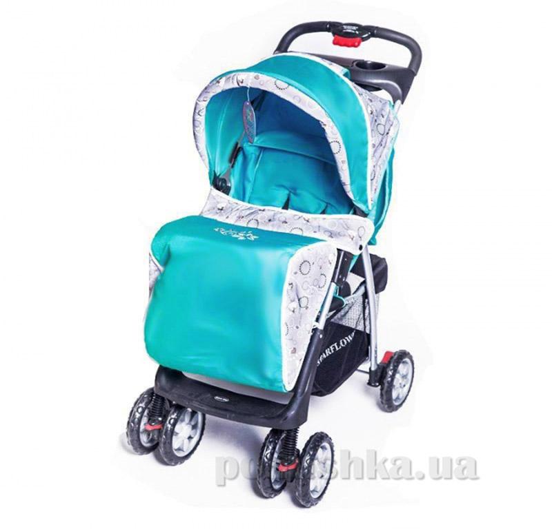 Прогулочная коляска BabyTilly S-K-5A бирюзовая