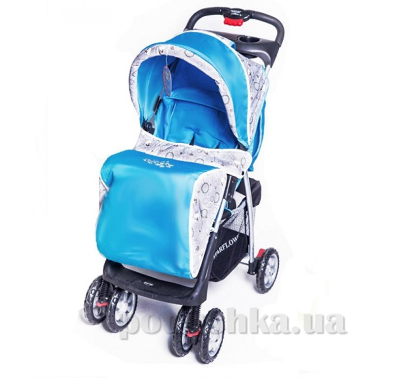 Прогулочная коляска BabyTilly S-K-5A голубая