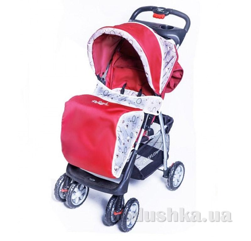 Прогулочная коляска BabyTilly S-K-5A красная