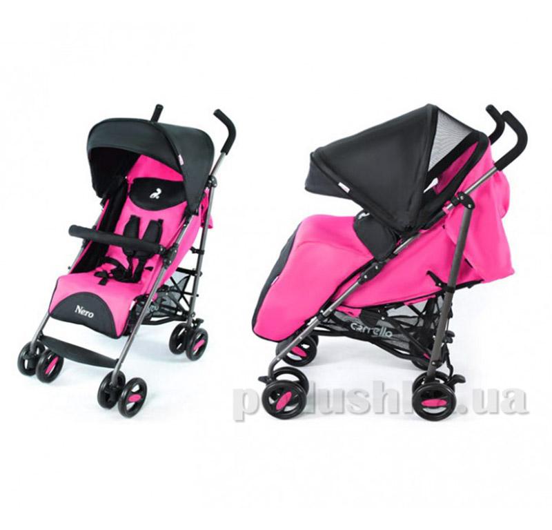 Прогулочная коляска Carrello Nero CRL-1403 черно-розовая