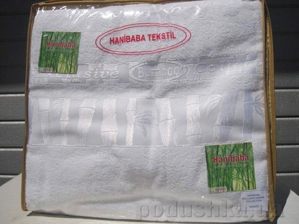 Простынь бамбуковая Hanibaba белая