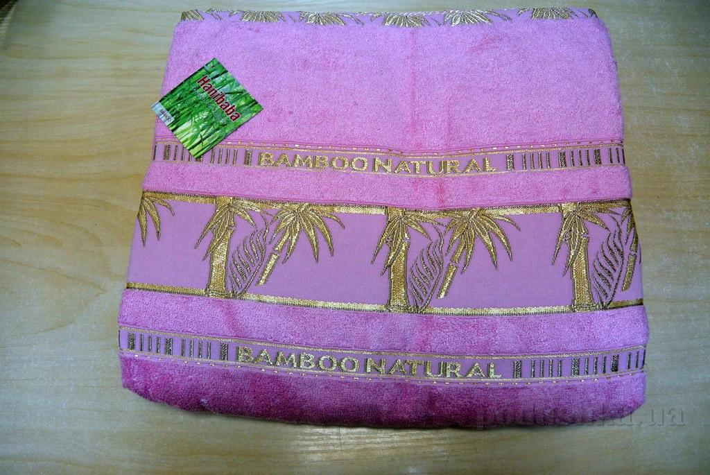 Простынь бамбуковая Hanibaba Naturale розовая 160х220 см  Hanibaba