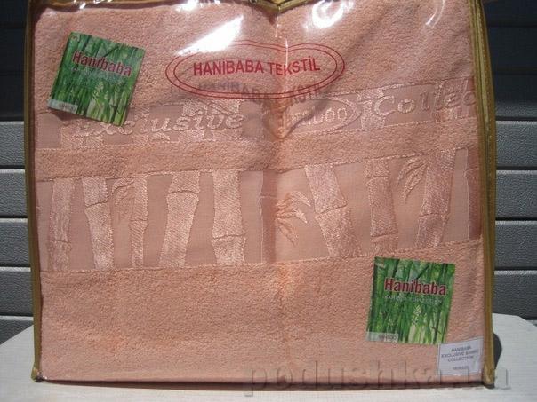 Простынь бамбуковая Hanibaba персиковая