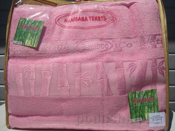 Простынь бамбуковая Hanibaba розовая