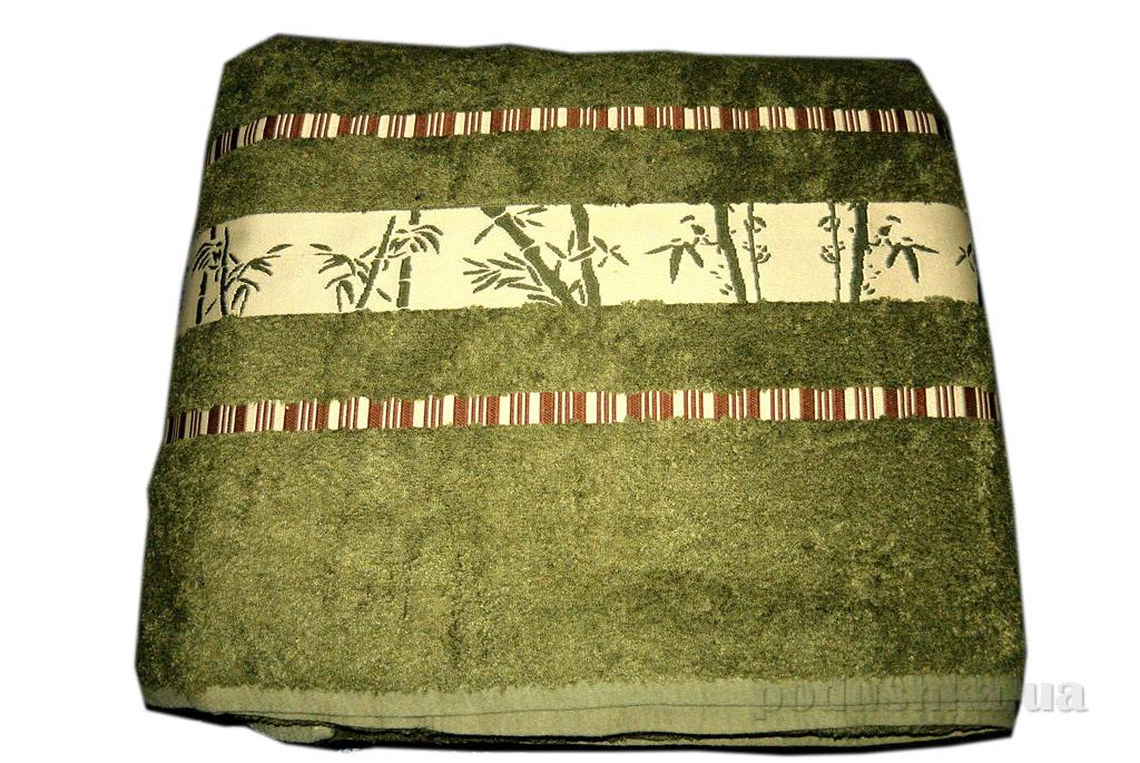 Простынь бамбуковая Mariposa темно-зеленая с наволочками