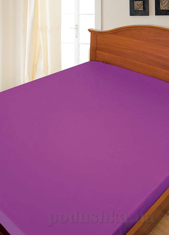 Простынь бязь набивная Ярослав фиолетовая