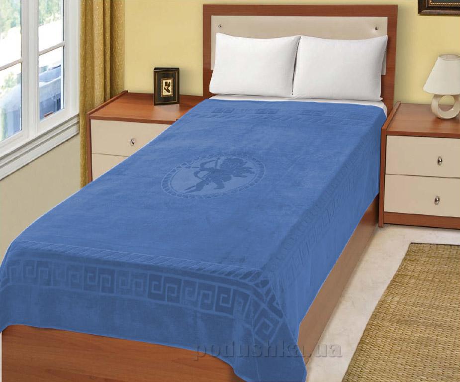 Простынь махровая Home Line Эрос голубая