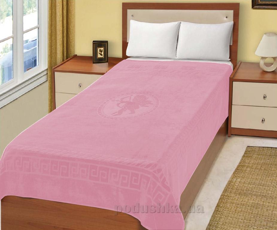 Простынь махровая Home Line Эрос розовая