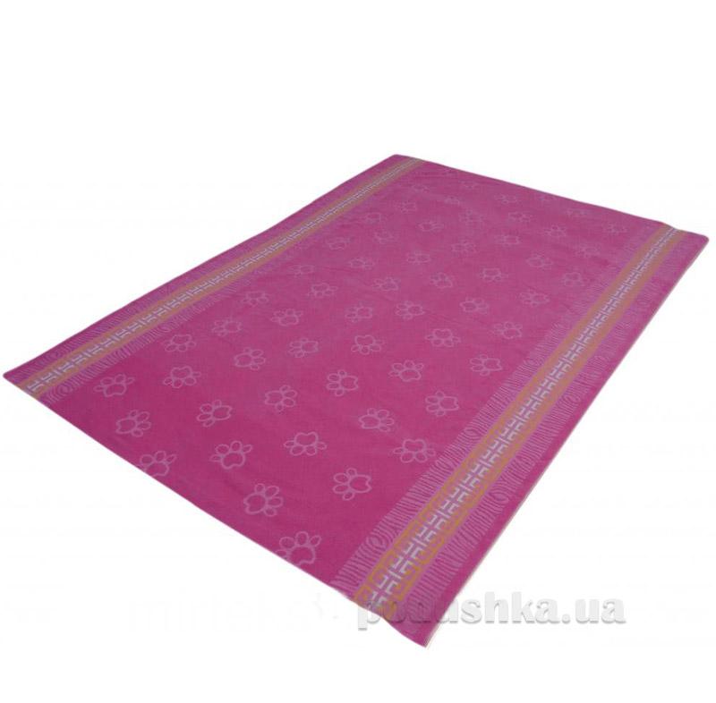 Простынь махровая Леон Лапа Речицкий текстиль розовая
