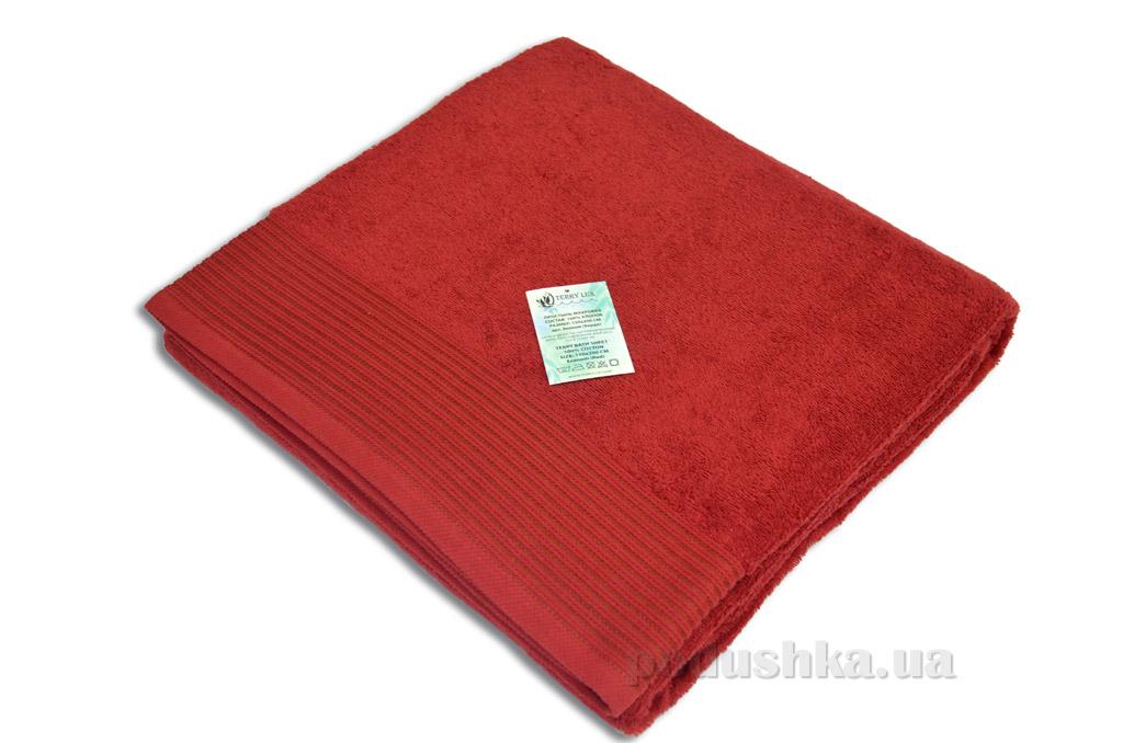 Простынь махровая Terry Lux TL-400 deep red
