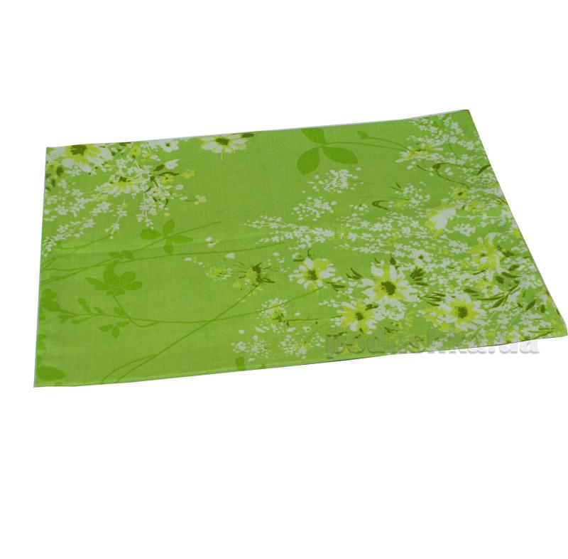 Простынь на резинке  Summer bouquet L-1581-1 SoundSleep поплин зеленая