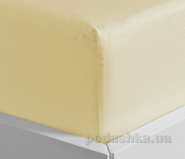 Простынь на резинке Lodex Cream светло-бежевая