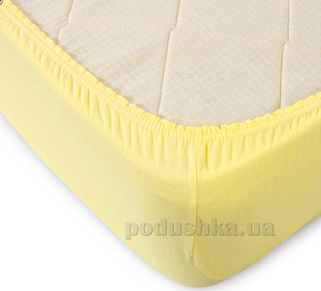 Простынь на резинке Lodex soft Lemon лимонная