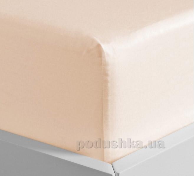 Простынь на резинке Lodex soft Salmone персиковая