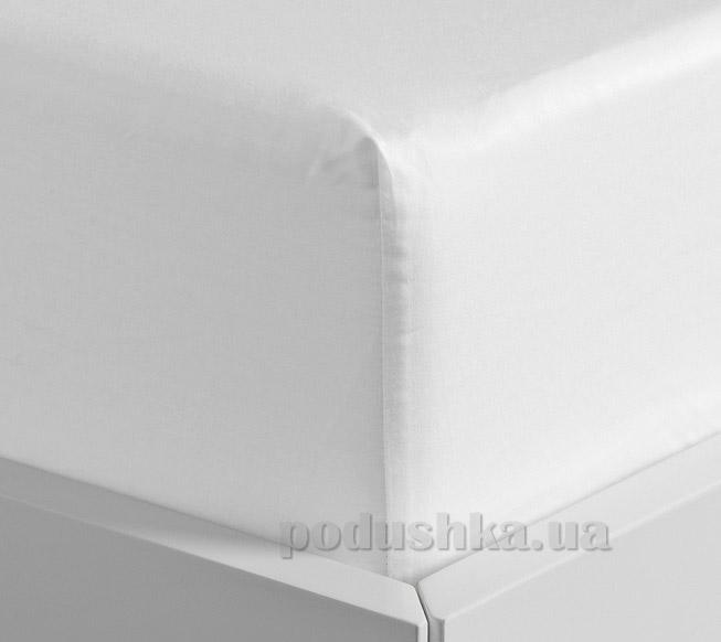 Простынь на резинке Lodex soft White белая