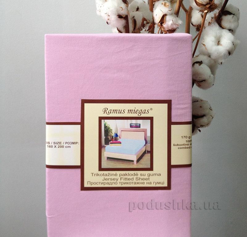 Простынь на резинке Nostra Sweet Lilac джерси 90х200 см  Nostra