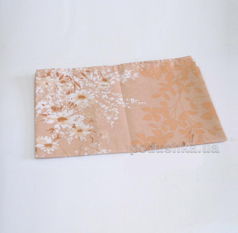 Простынь на резинке Spring bouquet L-1585-3 SoundSleep поплин бежевая