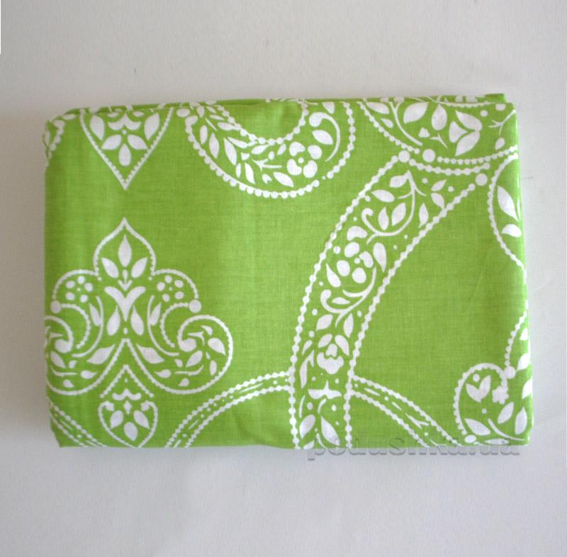 Простынь на резинке Summer ornaments L-1582 SoundSleep поплин зеленая