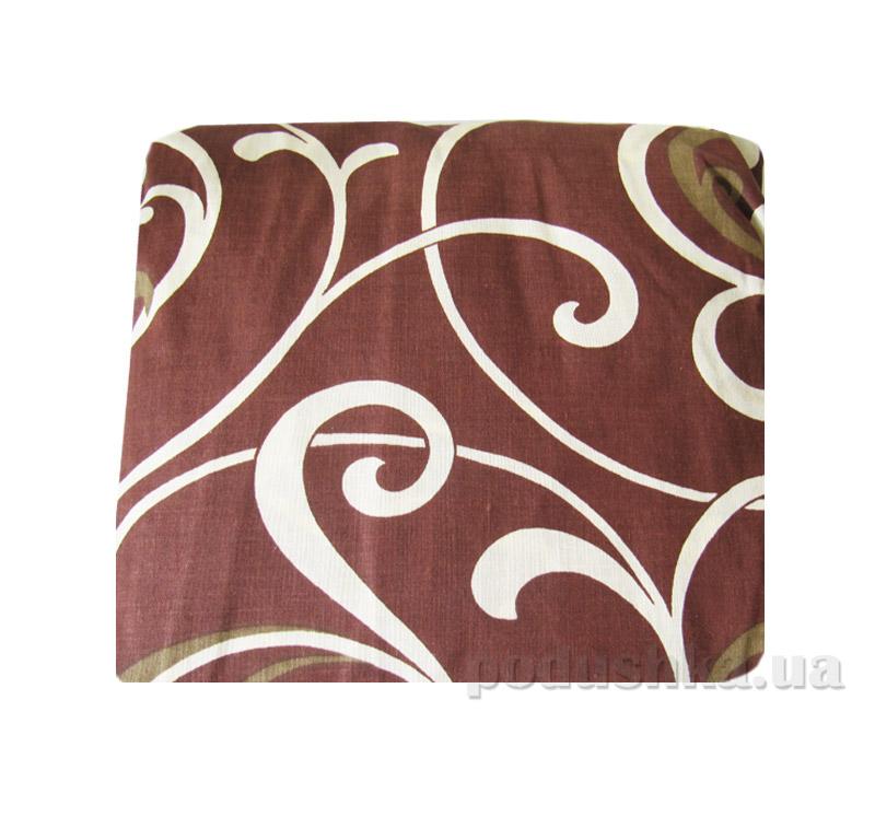 Простынь на резинке Вилюта 5400 коричневая