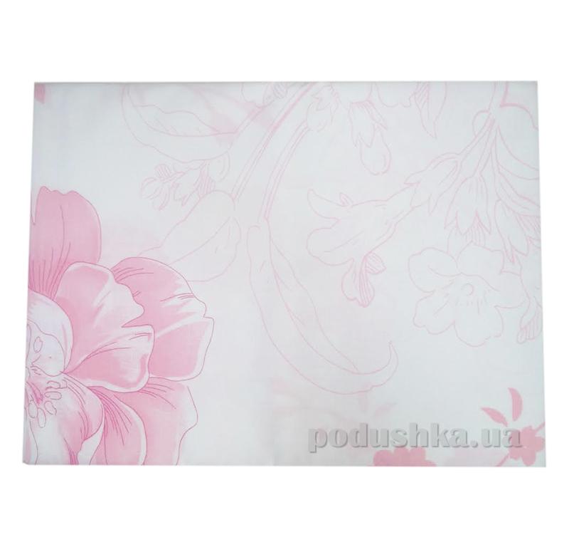 Простынь ранфорс Вилюта Розовые цветы