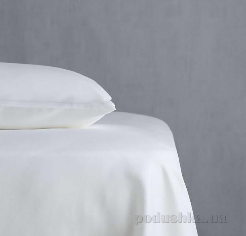 Простынь сатиновая Pavia Saten White белая 240х260 см  Pavia