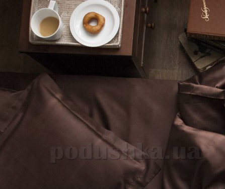 Простынь сатиновая Sleeper Set Dark chocolate