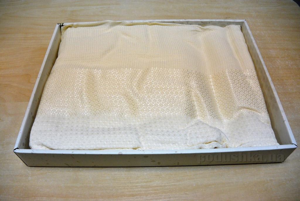 Простынь вафельная Mariposa Pike Cream