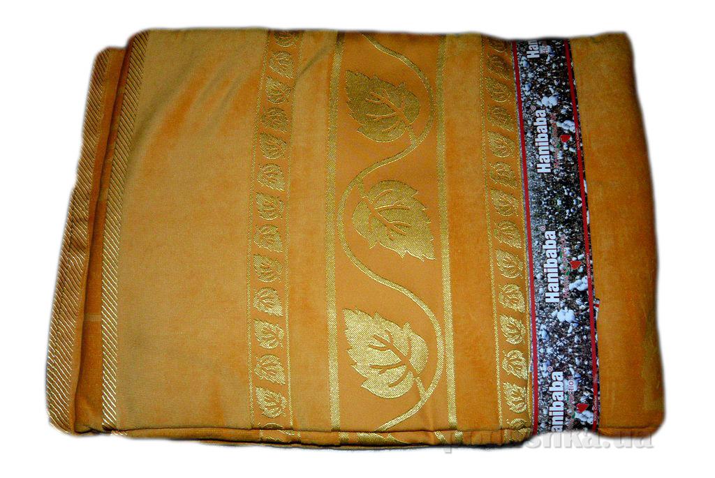 Простынь велюровая Hanibaba Золотой Лист золото