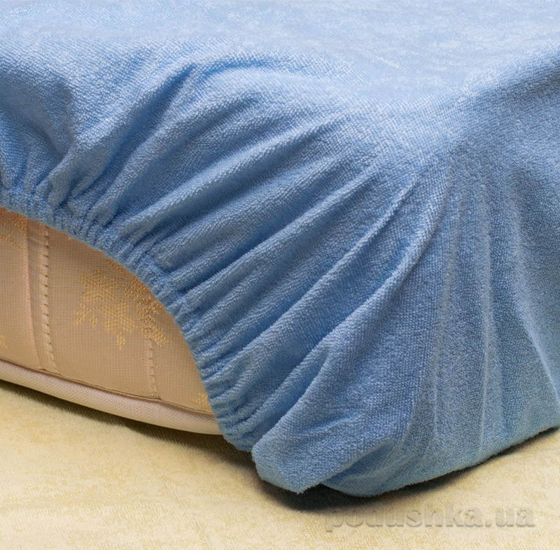 Простынь водонепроницаемая в кроватку Malinka International хлопок с юбкой
