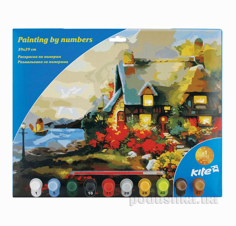 Раскраска по номерам 10 цветов Kite Домик K15-274-5K