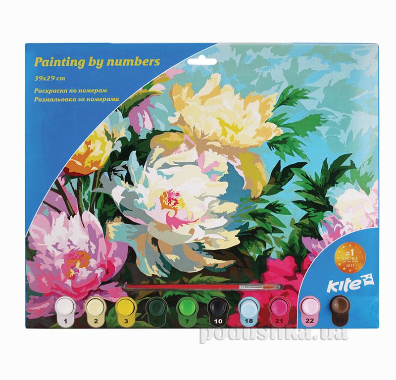 Раскраска по номерам 10 цветов Kite Цветы K15-274-6K