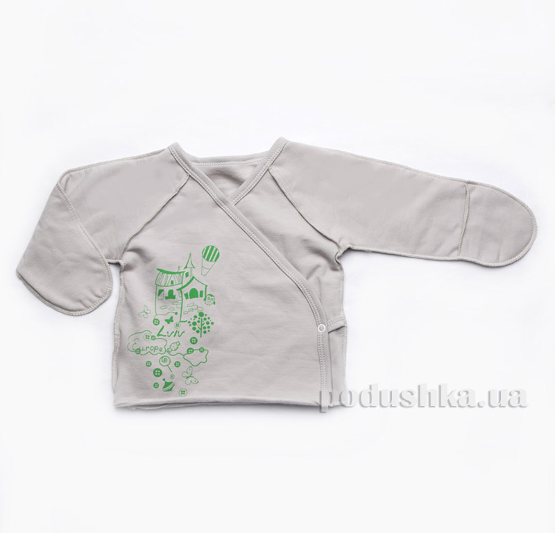 Распашонка детская для новорожденных Модный карапуз 301-00012 Серый