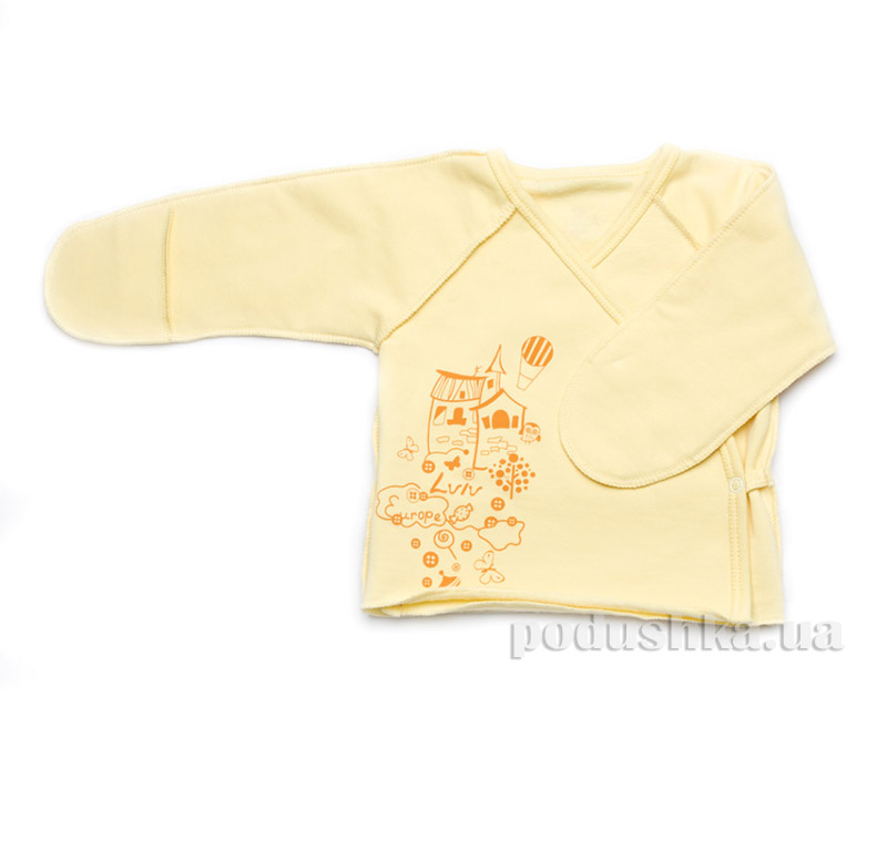 Распашонка детская для новорожденных Модный карапуз 301-00012 Желтый