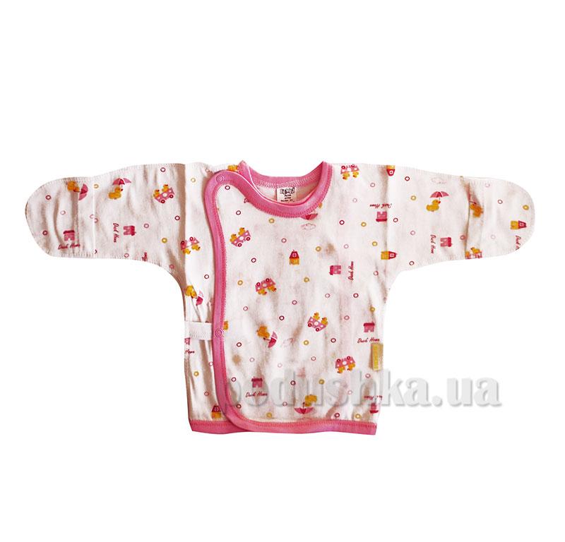Распашонка детская Леля Бемби РП7 кулир розовый рисунок