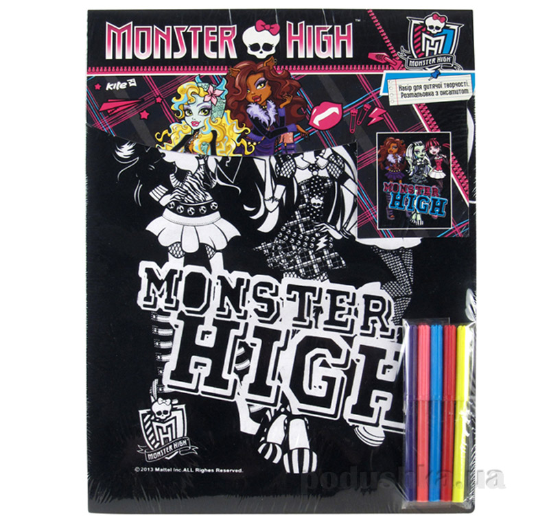 Раскраска с бархатом Monster High MH14-156K