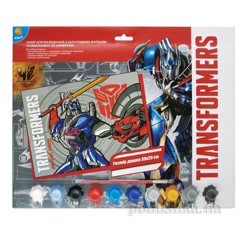Раскраска по номерам 10 цветов Transformers TF15-272K