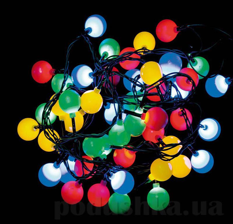 Разноцветная электрогирлянда Шарики Новогодько 800867