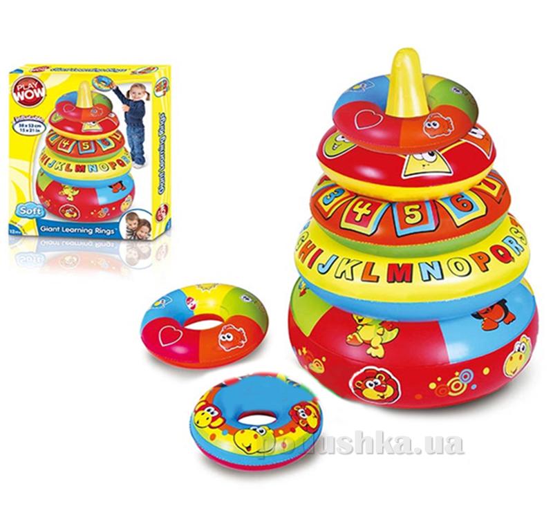 Развивающая игрушка Play Wow Большая пирамида с обучающими кольцами 3028PW