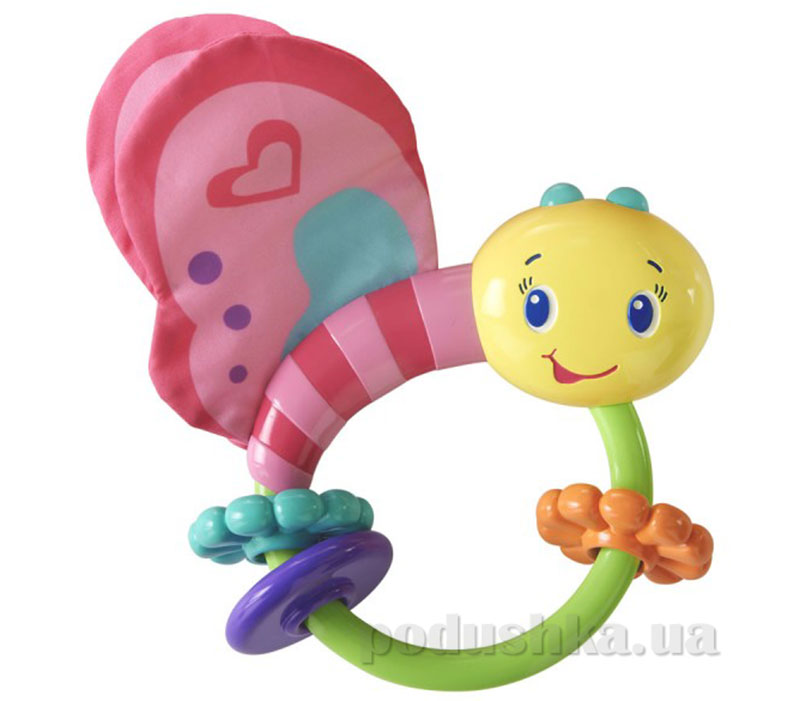 Развивающая игрушка погремушка Розовая бабочка Kids II