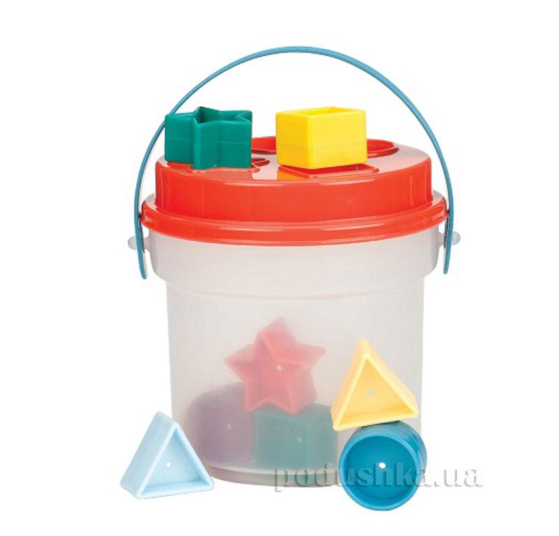 Развивающая игрушка-сортер Цветное Ведерко Battat BT2405Z