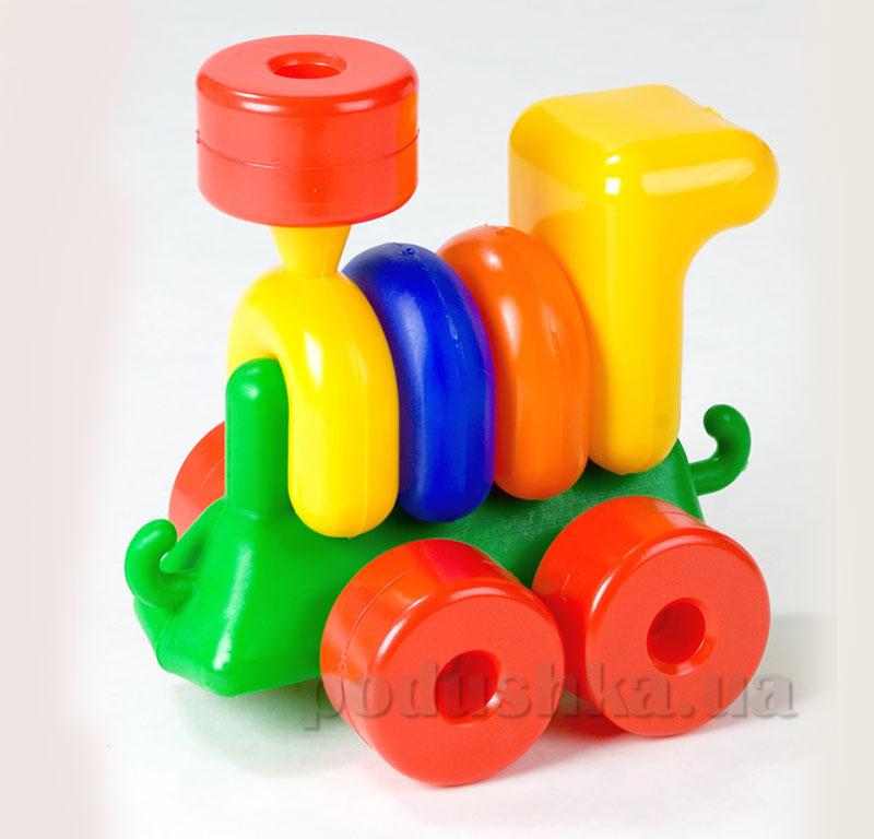Развивающий паровоз-пирамидка для малыша Toys Plast 39-5-0494