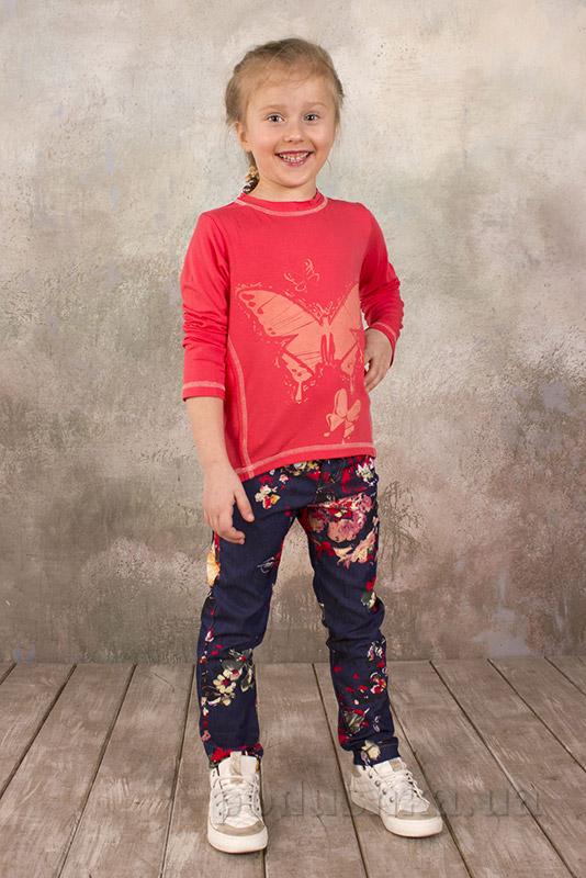 Реглан для девочки из вискозы Модный карапуз 03-00573 коралловый