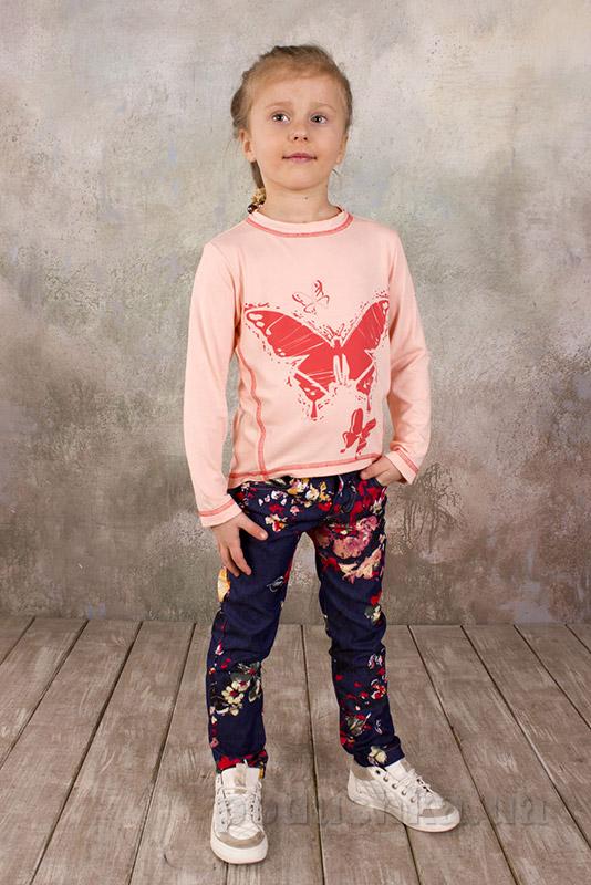 Реглан для девочки из вискозы Модный карапуз 03-00573 персиковый
