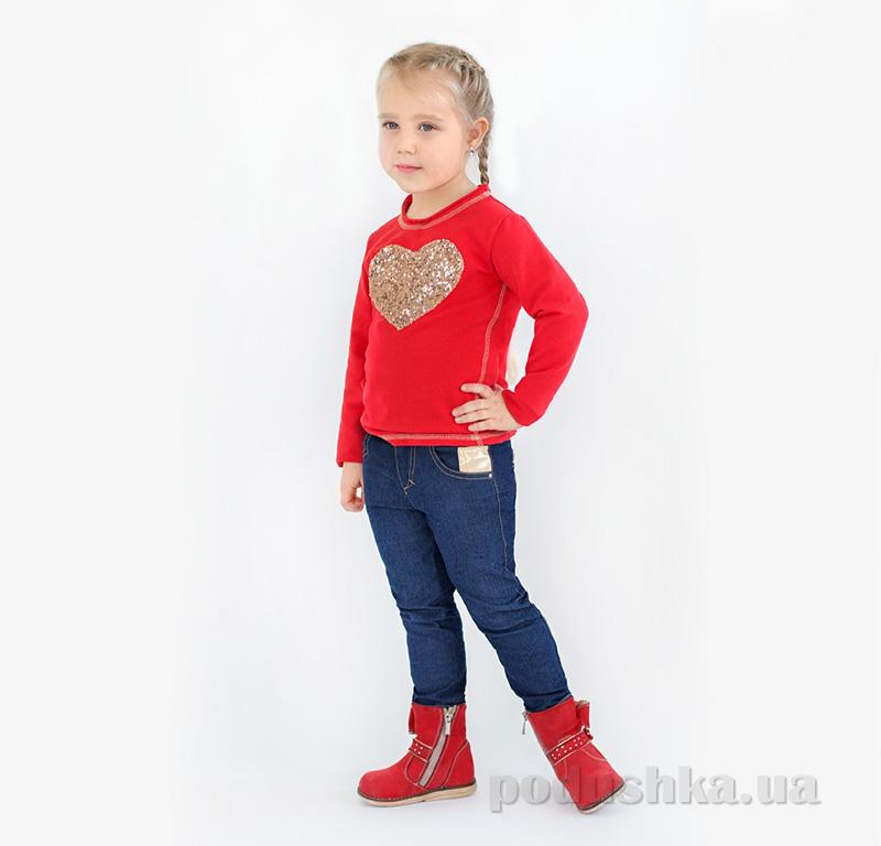Реглан для девочки Модный карапуз 03-00566 красный
