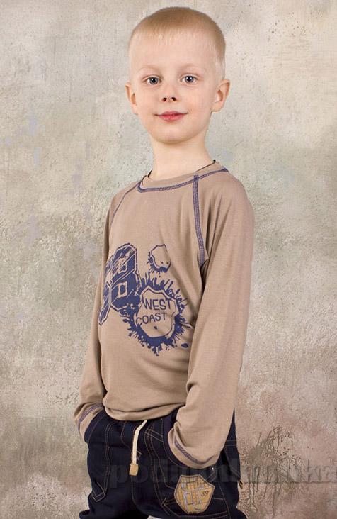 Реглан для мальчика из вискозы Модный карапуз 03-00574 бежевый