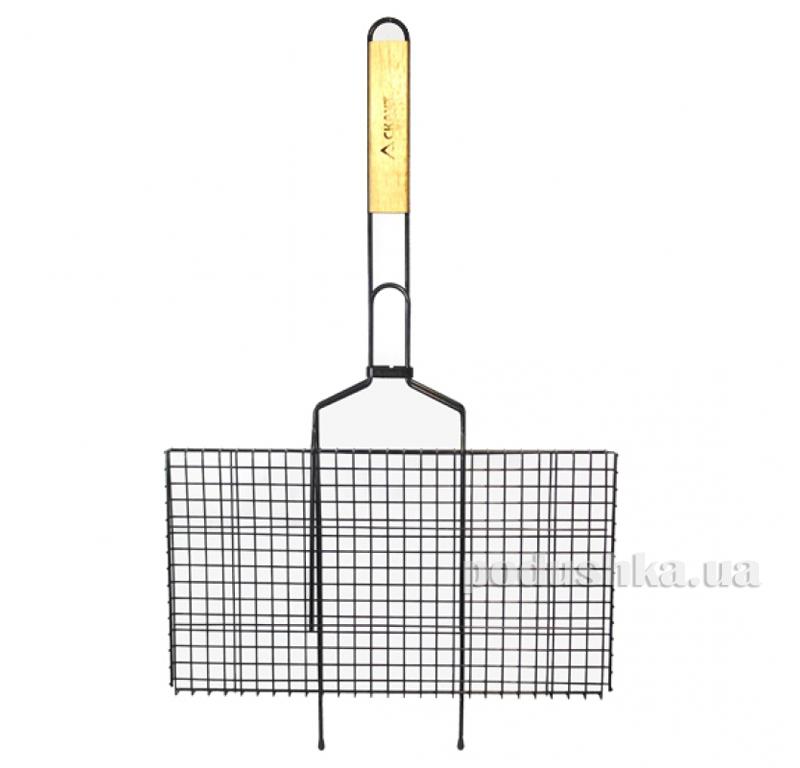 Решетка для гриля с антипригарным покрытием и деревянной ручкой Скаут 0714