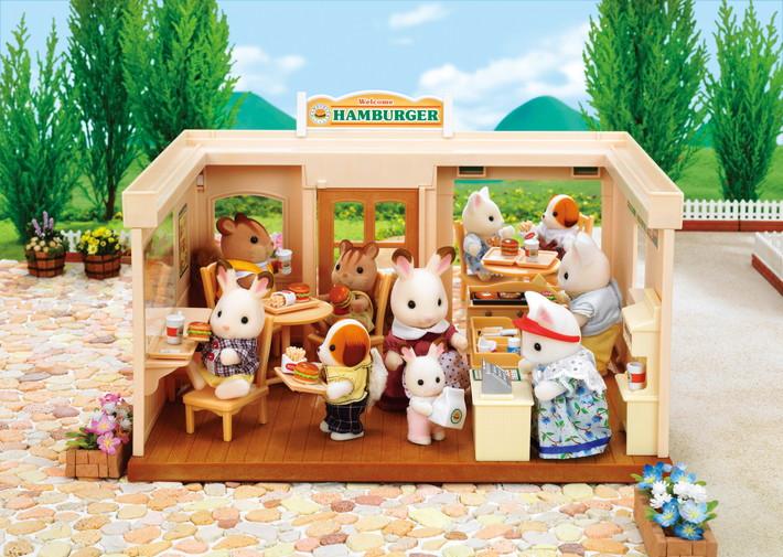 Ресторан гамбургеров Sylvanian Families 8711915018609