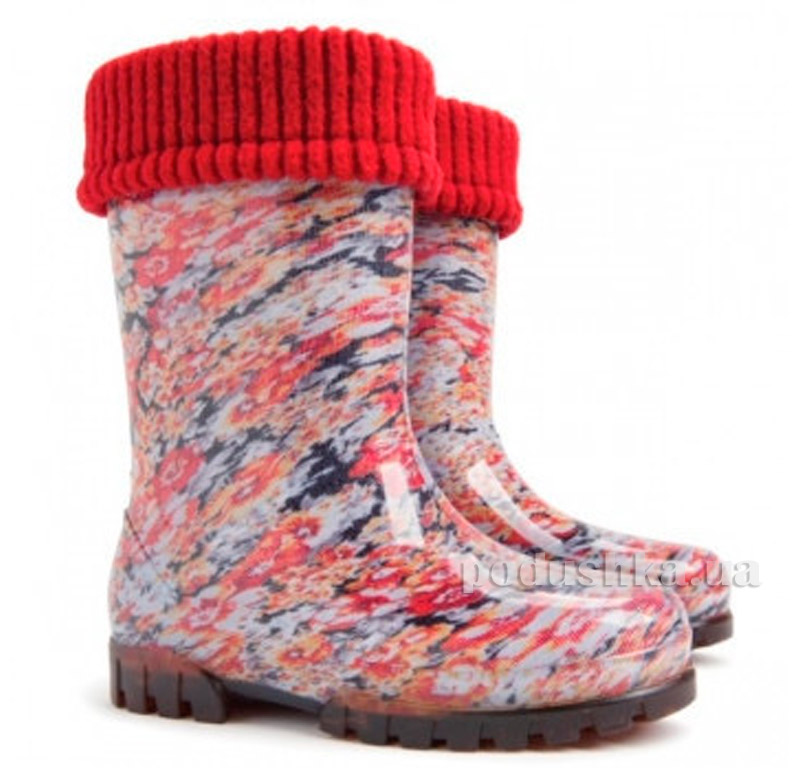Резиновые сапожки Demar Twister Lux Print Цветы