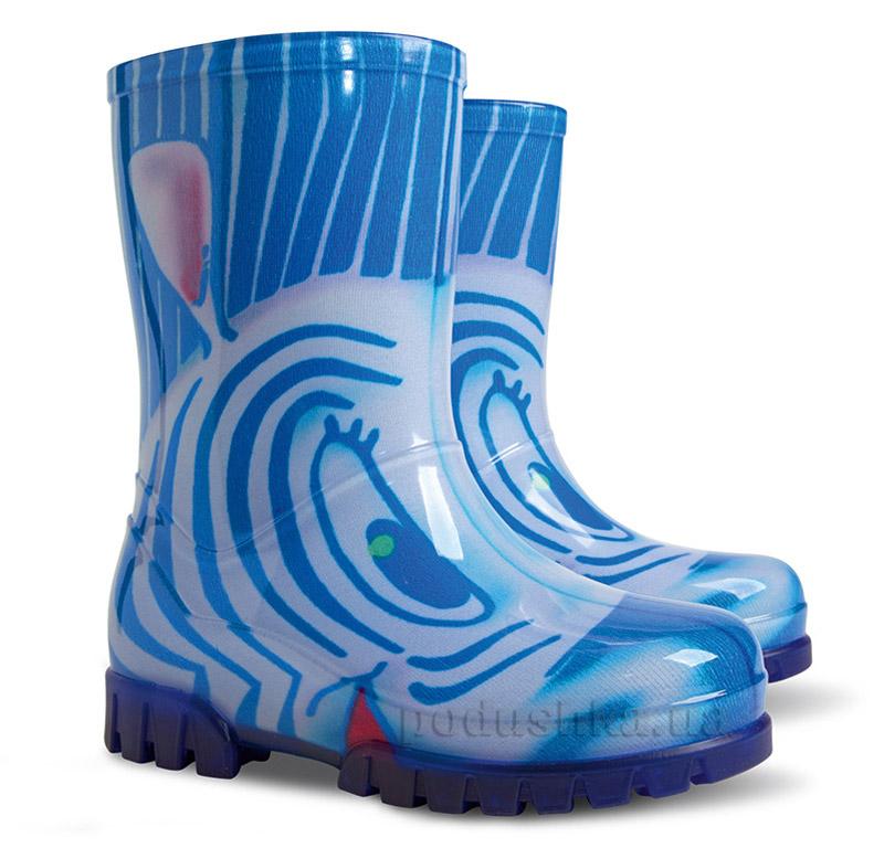 Резиновые сапожки Demar Twister Lux Print Зебра синие