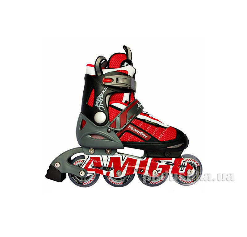 Ролики Amigosport Powerflex M3 Красный